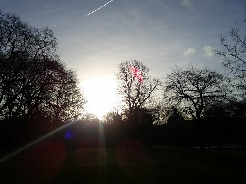 Sun over St. James's Park
