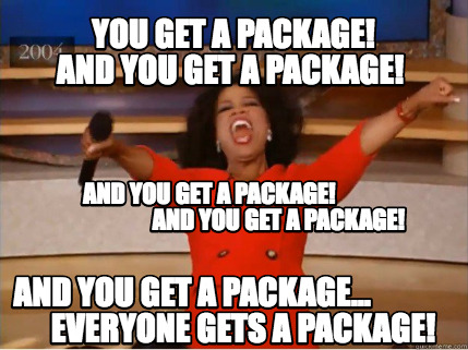 Oprah giving free packages away to everyone